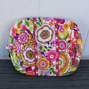 Vera Bradley Large Cosmetic in Clementine